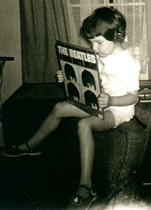 Lisa with Beatles Album
